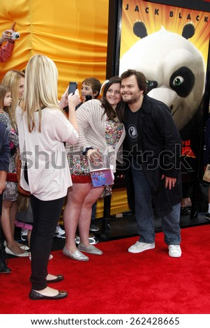 "May 22, 2011. Jack Black at the Los Angeles premiere of ""Kung Fu Panda 2"" held at the Grauman's Chinese Theater, Los Angeles.  - stock photo"
