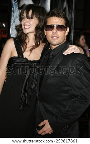 "May 4, 2006. Katie Holmes and Tom Cruise attend the Los Angeles Fan Screening of ""Mission: Impossible III"" held at the Grauman's Chinese Theatre in Hollywood, California United States.  - stock photo"