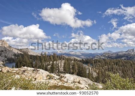 May Lake in Yosemite National Park - stock photo