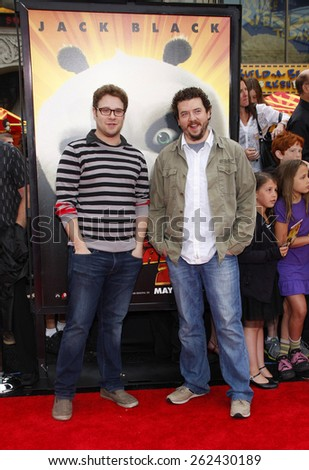 "May 22, 2011. Seth Rogen and Danny McBride at the Los Angeles premiere of ""Kung Fu Panda 2"" held at the Grauman's Chinese Theater, Los Angeles. - stock photo"