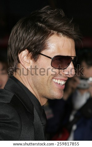 "May 4, 2006. Tom Cruise at the Los Angeles Fan Screening of ""Mission: Impossible III"" held at the Grauman's Chinese Theatre in Hollywood, California United States. - stock photo"