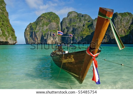 Maya Bay is a stunningly beautiful bay that's sheltered by 100-metre high cliffs on three sides. Inside the bay there are several beaches, most are small and some only exist at low tide.
