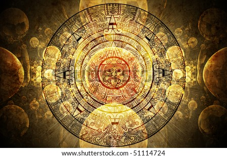 Maya calendar - stock photo