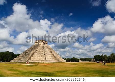 Maya Pyramid, Chichen-Itza, Mexico - stock photo
