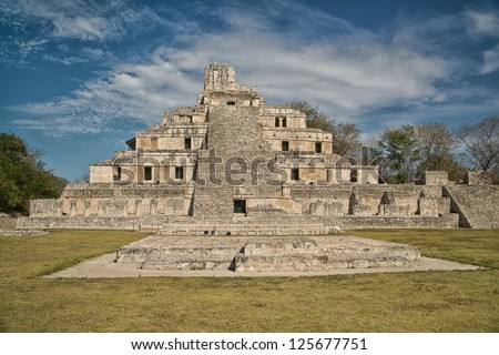 Maya ruins of Edzna, near Campeche, Mexico