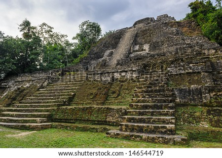 Maya temple in the rain forest of Xunantunich