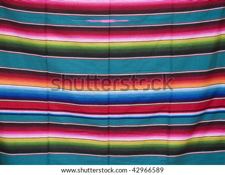 Mayan Blanket showing native design and pattern - stock photo