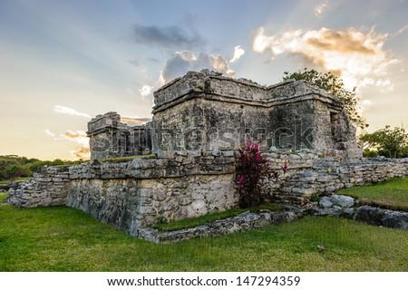 Mayan civilization ruins in Yucatan, Mexico - stock photo
