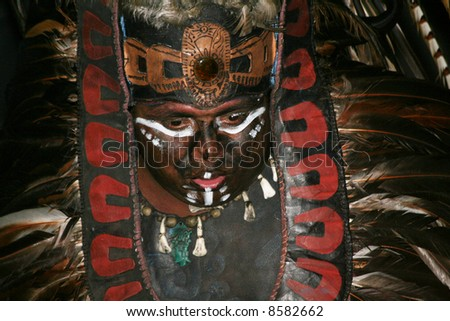 Mayan Fire Dance - stock photo
