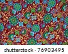 Mayan Floral Pattern Background - stock photo