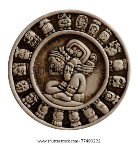 Mayan Glyphs - stock photo