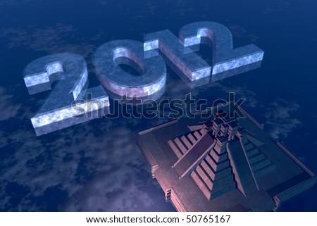 Mayan 2012 Prophecy - stock photo