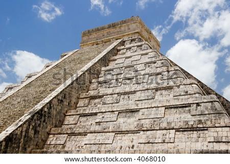 Mayan pyramid at Chichen Itza, Mexico - stock photo