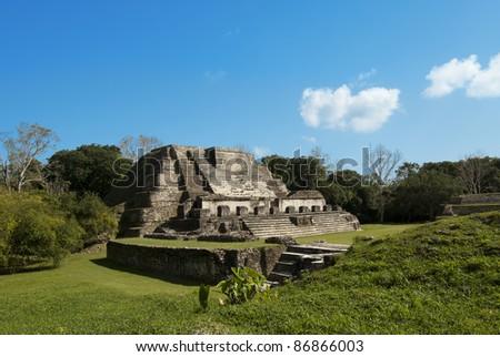 Mayan pyramids - stock photo