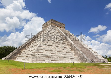 Mayan Ruin - Chichen Itza, Mexico - stock photo