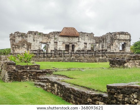 Mayan ruins at Tulum in Yucatan, Mexico