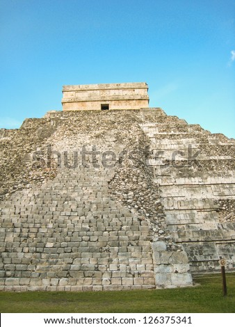 Mayan Ruins in archaeological site of  Chichen Itza, Yucatan, Mexico - stock photo