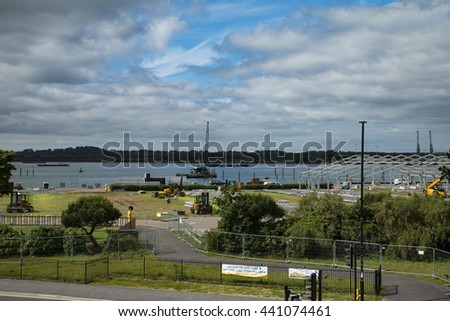 Mayflower Park, Southampton June 21 2016 being prepared for a concert next month