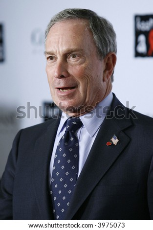 mayor michael bloomberg - stock photo