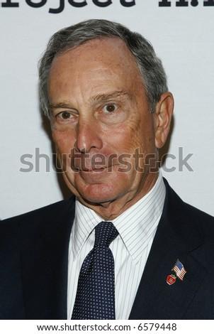 Mayor Mike Bloomberg p - stock photo
