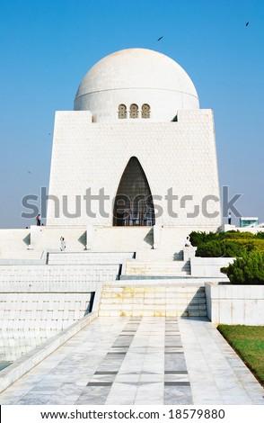 Mazar-e-Quaid- mausoleum of the founder of Pakistan, Muhammad Ali Jinnah. Karachi, Pakistan - stock photo