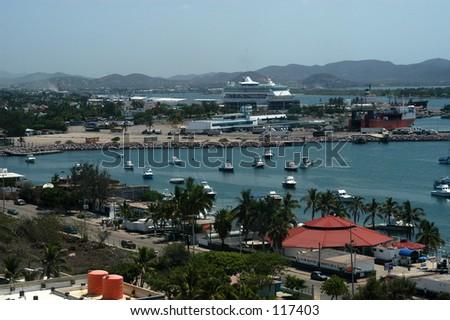 Mazatlan Port - stock photo