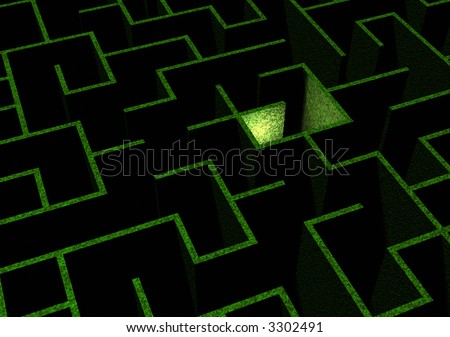 Maze - stock photo