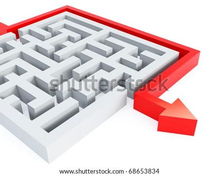 maze - stock photo