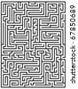 Maze labyrinth - stock vector