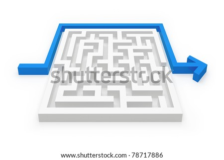 Maze smart solution - stock photo