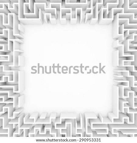 Maze with blank space - stock photo