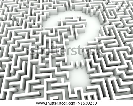 Maze with question sign