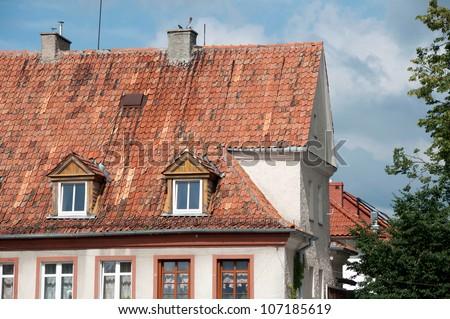 Mazurian house - stock photo