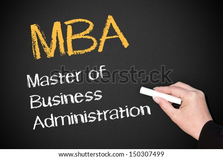 MBA - Master of Business Administration - stock photo