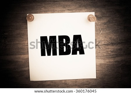MBA or Master of Business Administration  - stock photo