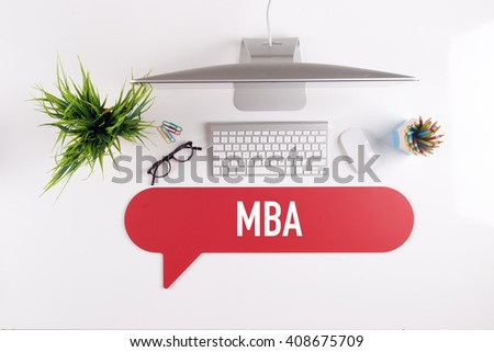 MBA Search Find Web Online Technology Internet Website Concept - stock photo