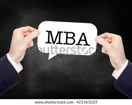 MBA written on a speechbubble - stock photo