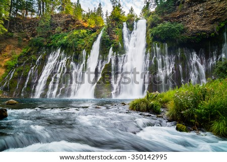 McArthur-Burney Falls in Northern California - stock photo