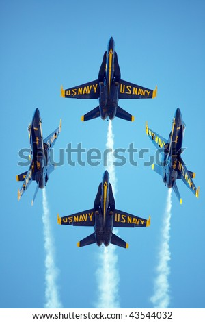 MCAS MIRAMAR, CA - OCTOBER 3: Blue Angels squadron Air Show October 3    October 3, 2009 on MCAS Miramar, CA - stock photo