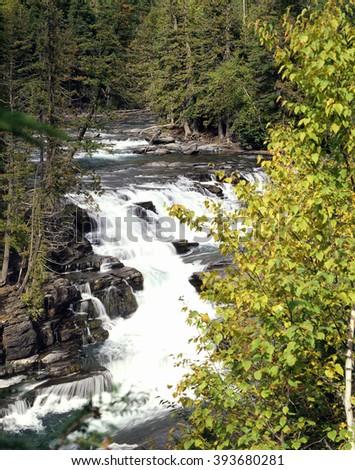 McDonald Creek, Glacier National Park, Montana - stock photo