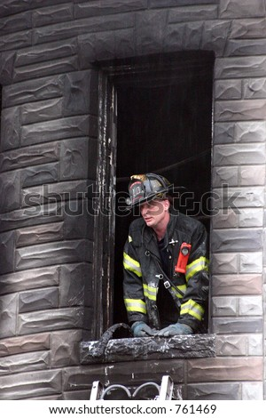 McKean St. Fire (Baltimore, MD) - stock photo