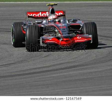 McLaren's British F1 driver Lewis Hamilton - stock photo