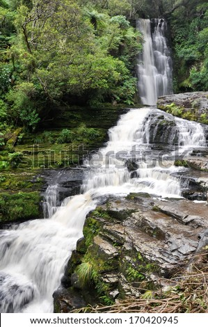 McLean Falls,The Catlins,New Zealand - stock photo