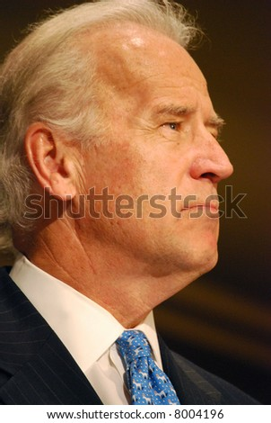MCLEAN, VA - NOV 30, 2007: Senator Joe (Joseph) Biden speaking at the Democratic National Committee (DNC) meeting on November 30, 2007, in McLean, Virginia. - stock photo
