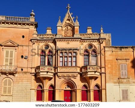 Mdina,city hall,Malta island - stock photo