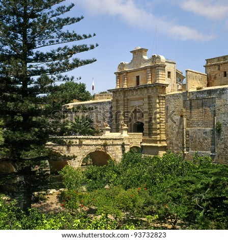 Mdina is the old capital of Malta. Mdina is a medieval walled town situated on a hill in the centre of the island.