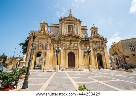 Mdina, Malta - 26 May, 2015: Grotto and Parish Church of St.Paul on Rabat near Mdina in Malta