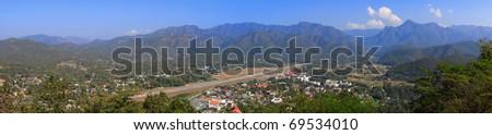 Mea Hong Sorn City, Beautiful Town in Mountain, Thailand - stock photo