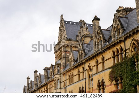 Meadow building of the Christ Church college, Oxford, England. Oxford is known as the home of the University of Oxford