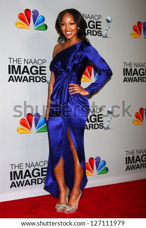 Meagan Good at the 44th NAACP Image Awards Press Room, Shrine Auditorium, Los Angeles, CA 02-01-13